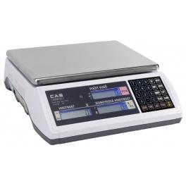 Počítací váha ověřitelná CAS EC-30kg/10g se zákaz. displejem