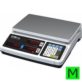 Obchodní váha s výpočtem ceny CAS PR Plus 15kg
