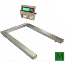 Paletová váha P4T1012N 600kg nerezová/A12SS