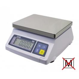 Kontrolní stolní váha CAS SW 1S-10DRT 10kg bez ověření